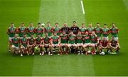 11 September 2021; The Mayo team photograph before the GAA Football All-Ireland Senior Championship Final match between Mayo and Tyrone at Croke Park in Dublin. Photo by Stephen McCarthy/Sportsfile
