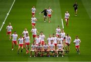 11 September 2021; Tyrone players gather for the team photograph before the GAA Football All-Ireland Senior Championship Final match between Mayo and Tyrone at Croke Park in Dublin. Photo by Stephen McCarthy/Sportsfile