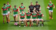 11 September 2021; Mayo players gather for the team photograph before the GAA Football All-Ireland Senior Championship Final match between Mayo and Tyrone at Croke Park in Dublin. Photo by Stephen McCarthy/Sportsfile