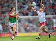 11 September 2021; Oisín Mullin of Mayo in action against Michael O'Neill of Tyrone during the GAA Football All-Ireland Senior Championship Final match between Mayo and Tyrone at Croke Park in Dublin. Photo by Ramsey Cardy/Sportsfile