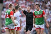 11 September 2021; Referee Joe McQuillan during the GAA Football All-Ireland Senior Championship Final match between Mayo and Tyrone at Croke Park in Dublin. Photo by Piaras Ó Mídheach/Sportsfile