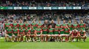 11 September 2021; The Mayo squad before the GAA Football All-Ireland Senior Championship Final match between Mayo and Tyrone at Croke Park in Dublin. Photo by Ray McManus/Sportsfile