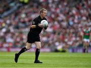11 September 2021; Referee Joe McQuillan during the GAA Football All-Ireland Senior Championship Final match between Mayo and Tyrone at Croke Park in Dublin. Photo by Ray McManus/Sportsfile