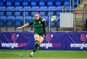 11 September 2021; Nicole Fowley of Connacht kicks a  conversion during the Vodafone Women's Interprovincial Championship Round 3 match between Connacht and Ulster at Energia Park in Dublin. Photo by Harry Murphy/Sportsfile
