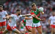 11 September 2021; Aidan O'Shea of Mayo in action against Ronan McNamee of Tyrone during the GAA Football All-Ireland Senior Championship Final match between Mayo and Tyrone at Croke Park in Dublin. Photo by Ray McManus/Sportsfile