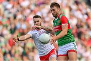 11 September 2021; Aidan O'Shea of Mayo in action against Ronan McNamee of Tyrone during the GAA Football All-Ireland Senior Championship Final match between Mayo and Tyrone at Croke Park in Dublin. Photo by Brendan Moran/Sportsfile