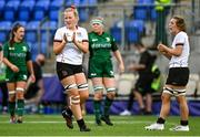 11 September 2021; Keelin Brady of Ulster celebrates the awarding of a penalty during the Vodafone Women's Interprovincial Championship Round 3 match between Connacht and Ulster at Energia Park in Dublin. Photo by Harry Murphy/Sportsfile