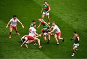 11 September 2021; Diarmuid O'Connor of Mayo in action against Michael O'Neill of Tyrone the GAA Football All-Ireland Senior Championship Final match between Mayo and Tyrone at Croke Park in Dublin. Photo by Daire Brennan/Sportsfile