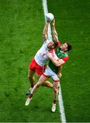 11 September 2021; Brian Kennedy of Tyrone in action against Matthew Ruane of Mayo during the GAA Football All-Ireland Senior Championship Final match between Mayo and Tyrone at Croke Park in Dublin. Photo by Daire Brennan/Sportsfile