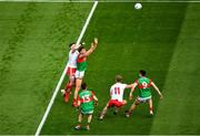 11 September 2021; Aidan O'Shea of Mayo in action against Ronan McNamee of Tyrone the GAA Football All-Ireland Senior Championship Final match between Mayo and Tyrone at Croke Park in Dublin. Photo by Daire Brennan/Sportsfile