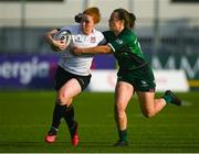 11 September 2021; Ella Durkan of Ulster is tackled by Catherine Martin of Connacht during the Vodafone Women's Interprovincial Championship Round 3 match between Connacht and Ulster at Energia Park in Dublin. Photo by Harry Murphy/Sportsfile
