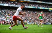 11 September 2021; Michael McKernan of Tyrone celebrates a wide during the GAA Football All-Ireland Senior Championship Final match between Mayo and Tyrone at Croke Park in Dublin. Photo by David Fitzgerald/Sportsfile