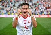 11 September 2021; Michael McKernan of Tyrone celebrates after the GAA Football All-Ireland Senior Championship Final match between Mayo and Tyrone at Croke Park in Dublin. Photo by Stephen McCarthy/Sportsfile
