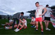 11 September 2021; Former Tyrone player Sean Cavanagh congratulates Tyrone players, including Conor McKenna, after the GAA Football All-Ireland Senior Championship Final match between Mayo and Tyrone at Croke Park in Dublin. Photo by Ramsey Cardy/Sportsfile