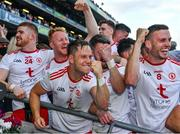 11 September 2021; Tyrone players including Kieran McGeary anf Brian Kennedy celebrate during the cup presentation after the GAA Football All-Ireland Senior Championship Final match between Mayo and Tyrone at Croke Park in Dublin. Photo by Ray McManus/Sportsfile