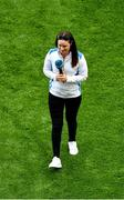 11 September 2021; Solheim Cup winner Leona Maguire is introduced to the crowd at half-time of the GAA Football All-Ireland Senior Championship Final match between Mayo and Tyrone at Croke Park in Dublin. Photo by Daire Brennan/Sportsfile