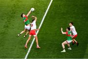 11 September 2021; Matthew Ruane of Mayo in action against Conn Kilpatrick of Tyrone during the GAA Football All-Ireland Senior Championship Final match between Mayo and Tyrone at Croke Park in Dublin. Photo by Daire Brennan/Sportsfile