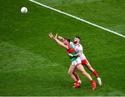 11 September 2021; Aidan O'Shea of Mayo in action against Ronan McNamee of Tyrone during the GAA Football All-Ireland Senior Championship Final match between Mayo and Tyrone at Croke Park in Dublin. Photo by Daire Brennan/Sportsfile