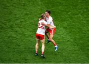 11 September 2021; Tyrone players, Ben McDonnell, left, and Darragh Canavan celebrate after the GAA Football All-Ireland Senior Championship Final match between Mayo and Tyrone at Croke Park in Dublin. Photo by Daire Brennan/Sportsfile