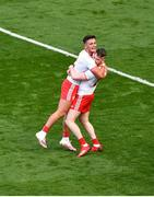 11 September 2021; Tyrone players, Michael McKernan, left, and Jonathan Monroe celebrate after the GAA Football All-Ireland Senior Championship Final match between Mayo and Tyrone at Croke Park in Dublin. Photo by Daire Brennan/Sportsfile