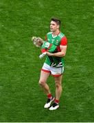 11 September 2021; Lee Keegan of Mayo with his one year old daughter Líle, after the GAA Football All-Ireland Senior Championship Final match between Mayo and Tyrone at Croke Park in Dublin. Photo by Daire Brennan/Sportsfile