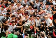 11 September 2021; Tyrone players celebrate with the Sam Maguire Cup after the GAA Football All-Ireland Senior Championship Final match between Mayo and Tyrone at Croke Park in Dublin. Photo by Daire Brennan/Sportsfile