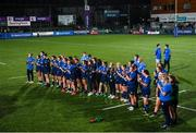 11 September 2021; Leinster players after the Vodafone Women's Interprovincial Championship Round 3 match between Leinster and Munster at Energia Park in Dublin. Photo by Harry Murphy/Sportsfile