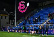 11 September 2021; Leinster players applaud supporters after the Vodafone Women's Interprovincial Championship Round 3 match between Leinster and Munster at Energia Park in Dublin. Photo by Harry Murphy/Sportsfile
