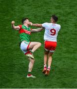 11 September 2021; Matthew Ruane of Mayo and Conn Kilpatrick of Tyrone get involved in a scuffle which resulted in Ruane getting sent off during the GAA Football All-Ireland Senior Championship Final match between Mayo and Tyrone at Croke Park in Dublin. Photo by Daire Brennan/Sportsfile