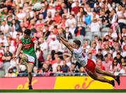 11 September 2021; Conor Loftus of Mayo in action against Niall Sludden of Tyrone during the GAA Football All-Ireland Senior Championship Final match between Mayo and Tyrone at Croke Park in Dublin. Photo by Seb Daly/Sportsfile