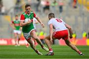 11 September 2021; Matthew Ruane of Mayo in action against Brian Kennedy of Tyrone during the GAA Football All-Ireland Senior Championship Final match between Mayo and Tyrone at Croke Park in Dublin. Photo by Seb Daly/Sportsfile