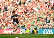 11 September 2021; Tyrone goalkeeper Niall Morgan during the GAA Football All-Ireland Senior Championship Final match between Mayo and Tyrone at Croke Park in Dublin. Photo by Seb Daly/Sportsfile