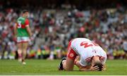 11 September 2021; Darren McCurry of Tyrone celebrates at the final whistle of the GAA Football All-Ireland Senior Championship Final match between Mayo and Tyrone at Croke Park in Dublin. Photo by Stephen McCarthy/Sportsfile