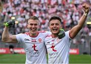11 September 2021; Ben McDonnell, left, and Michael McKernan of Tyrone celebrate following the GAA Football All-Ireland Senior Championship Final match between Mayo and Tyrone at Croke Park in Dublin. Photo by Stephen McCarthy/Sportsfile