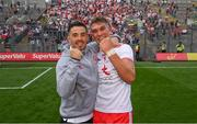 11 September 2021; Ronan O'Neill, left, and Conn Kilpatrick of Tyrone celebrate following the GAA Football All-Ireland Senior Championship Final match between Mayo and Tyrone at Croke Park in Dublin. Photo by Stephen McCarthy/Sportsfile