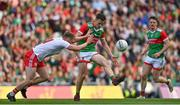 11 September 2021; Diarmuid O'Connor of Mayo in action against Michael O'Neill of Tyrone during the GAA Football All-Ireland Senior Championship Final match between Mayo and Tyrone at Croke Park in Dublin. Photo by Brendan Moran/Sportsfile