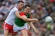 11 September 2021; Matthew Ruane of Mayo is tackled by Brian Kennedy of Tyrone during the GAA Football All-Ireland Senior Championship Final match between Mayo and Tyrone at Croke Park in Dublin. Photo by Brendan Moran/Sportsfile