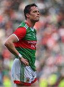 11 September 2021; A dejected Stephen Coen of Mayo after the GAA Football All-Ireland Senior Championship Final match between Mayo and Tyrone at Croke Park in Dublin. Photo by Brendan Moran/Sportsfile