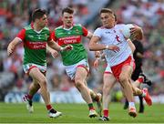11 September 2021; Conn Kilpatrick of Tyrone in action against Lee Keegan of Mayo during the GAA Football All-Ireland Senior Championship Final match between Mayo and Tyrone at Croke Park in Dublin. Photo by Brendan Moran/Sportsfile