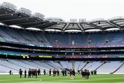 12 September 2021; Armagh players inspect the pitch before the All-Ireland Premier Junior Camogie Championship Final match between Armagh and Wexford at Croke Park in Dublin. Photo by Ben McShane/Sportsfile