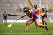 12 September 2021; Aoife Dunne of Wexford in action against Bernie Murray of Armagh during the All-Ireland Premier Junior Camogie Championship Final match between Armagh and Wexford at Croke Park in Dublin. Photo by Ben McShane/Sportsfile
