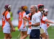 12 September 2021; Armagh manager Mattie Lennon before the All-Ireland Premier Junior Camogie Championship Final match between Armagh and Wexford at Croke Park in Dublin. Photo by Piaras Ó Mídheach/Sportsfile