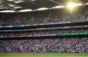 11 September 2021; A general view of Croke Park as Lee Keegan of Mayo brings the ball forward for his side during the GAA Football All-Ireland Senior Championship Final match between Mayo and Tyrone at Croke Park in Dublin. Photo by Stephen McCarthy/Sportsfile