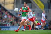 11 September 2021; Aidan O'Shea of Mayo in action against Ronan McNamee of Tyrone during the GAA Football All-Ireland Senior Championship Final match between Mayo and Tyrone at Croke Park in Dublin. Photo by Stephen McCarthy/Sportsfile