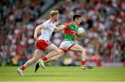 11 September 2021; Conor Loftus of Mayo in action against Frank Burns of Tyrone during the GAA Football All-Ireland Senior Championship Final match between Mayo and Tyrone at Croke Park in Dublin. Photo by Stephen McCarthy/Sportsfile