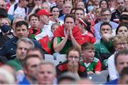 11 September 2021; A Mayo supporter during the GAA Football All-Ireland Senior Championship Final match between Mayo and Tyrone at Croke Park in Dublin. Photo by Piaras Ó Mídheach/Sportsfile