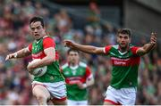 11 September 2021; Stephen Coen of Mayo during the GAA Football All-Ireland Senior Championship Final match between Mayo and Tyrone at Croke Park in Dublin. Photo by David Fitzgerald/Sportsfile