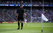 11 September 2021; Linesman David Gough during the GAA Football All-Ireland Senior Championship Final match between Mayo and Tyrone at Croke Park in Dublin. Photo by Stephen McCarthy/Sportsfile