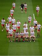 11 September 2021; Tyrone players prepare to have their team photograph taken before the GAA Football All-Ireland Senior Championship Final match between Mayo and Tyrone at Croke Park in Dublin. Photo by Stephen McCarthy/Sportsfile