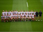 11 September 2021; The Tyrone squad before the GAA Football All-Ireland Senior Championship Final match between Mayo and Tyrone at Croke Park in Dublin. Photo by Stephen McCarthy/Sportsfile